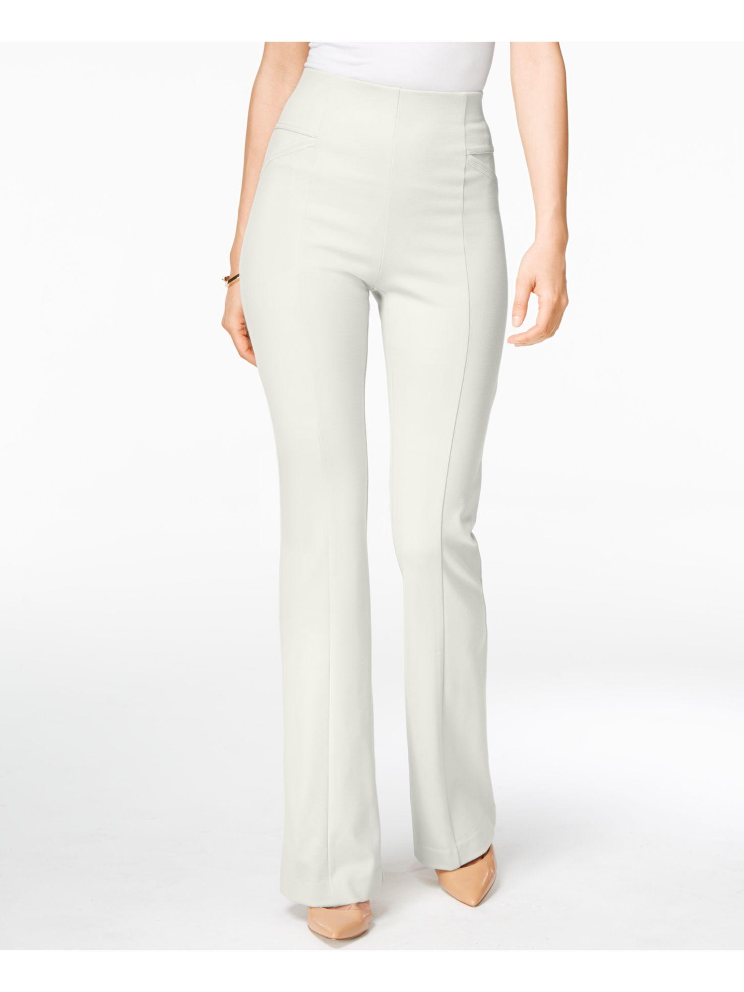 Aqua Womens White High Rise Ankle Workwear Skinny Pants Trousers XS BHFO 1487