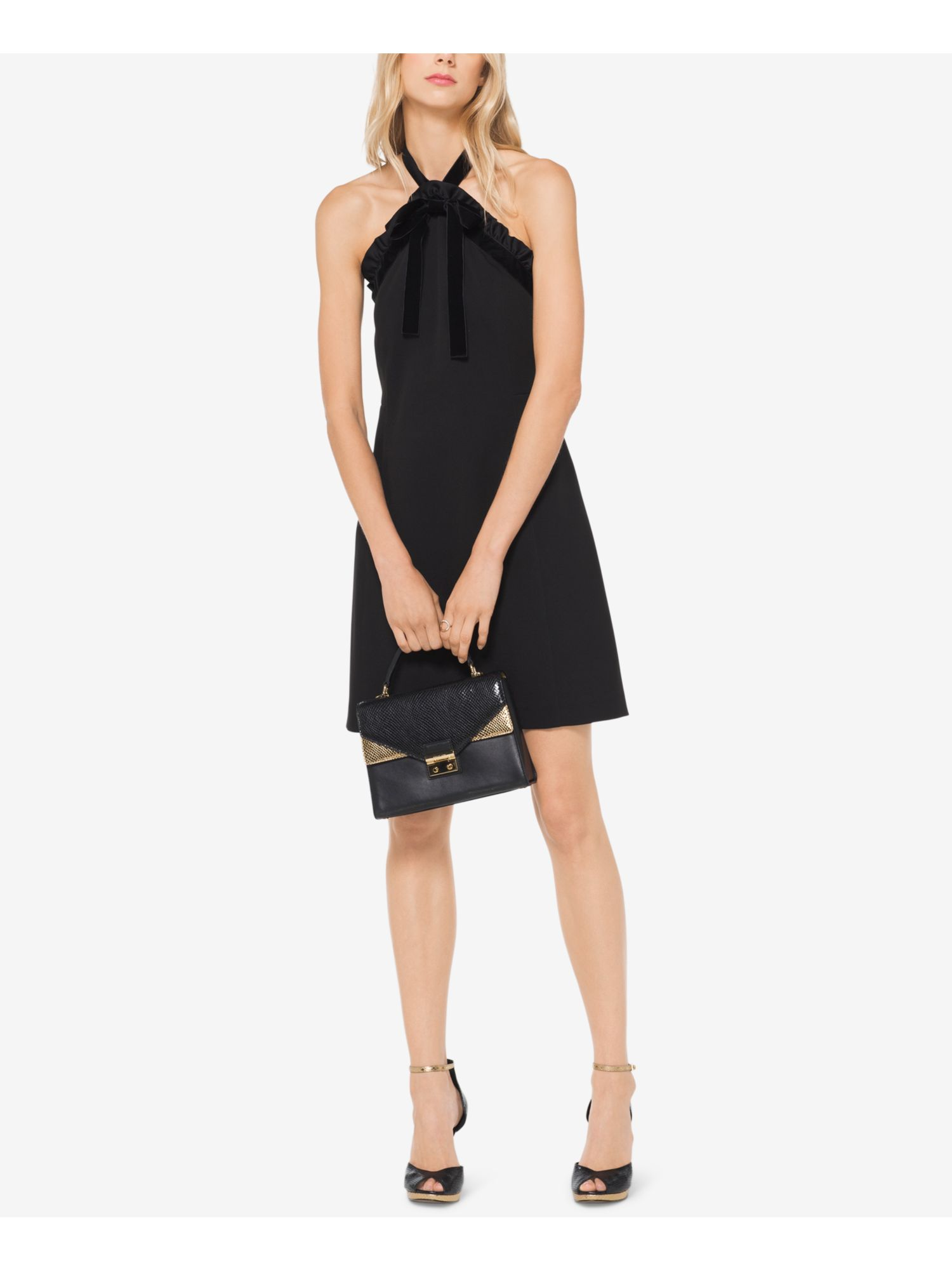 Michael Kors Collection Studded Double-Knit Mermaid Midi